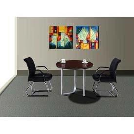 Boss Office Products N8018-MOC Boss Modular Laminate Series Round Table - Peazz.com