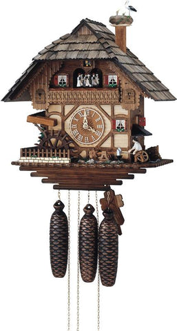 River City Clocks MD898-17 Eight Day Musical Cuckoo Clock - Blacksmith Swinging Hammer & Moving Waterwheel - Peazz.com
