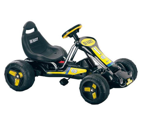 Trademark Commerce 80-6659D Lil' Rider Black Stealth Pedal Powered Go-Kart - Peazz.com