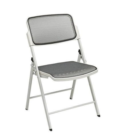 Office Star Pro-Line II 81108 Deluxe Folding Chair With Beige ProGrid® Seat and Back - Peazz.com