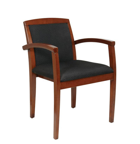 Office Star OSP Furniture KEN-129-LCH Leg Chair With Upholstered Back & Light Cherry Finish - Peazz.com