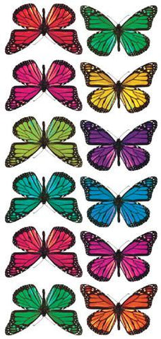 Butterfly 3-D Wall Decals (ACC0003B3D) - Peazz.com