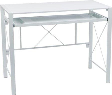 Office Star OSP Designs CRS25-11 Creston Desk with White Frame and White Top - Peazz.com