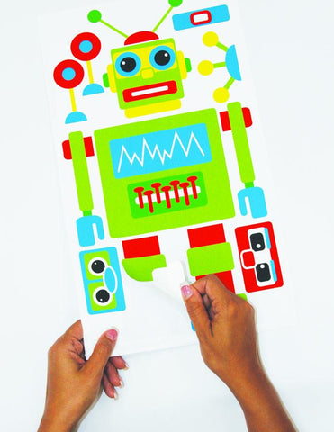 Build Your Own Robot Peel & Stick Wall Decals          (RMK1120SCS) - Peazz.com