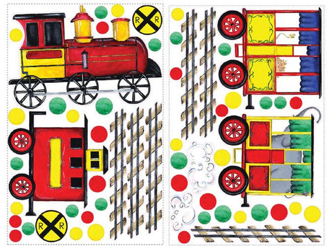 All Aboard Peel & Stick MegaPack Wall Decals (RMK1391SLG) - Peazz.com