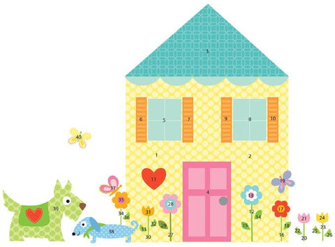 Build-a-House Peel & Stick Mega Pack Wall Decals (RMK1438SLM) - Peazz.com