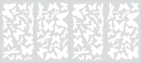 Butterfly & Dragonfly Glow in the Dark Wall Decals (RMK1706SCS) - Peazz.com