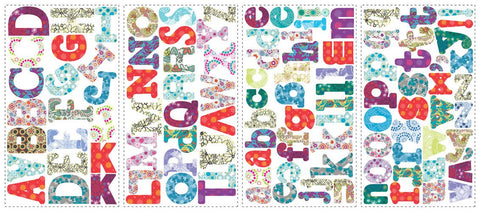 Boho Alphabet Peel & Stick Wall Decals (RMK1776SCS) - Peazz.com
