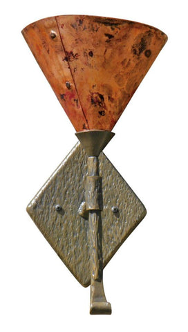 Cedarvale Wall Sconce Single w/ Copper Shade - Peazz.com