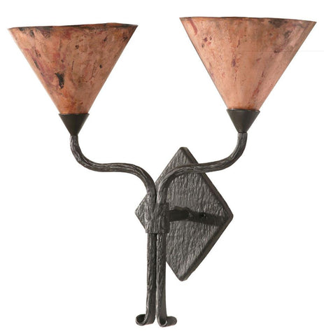 Cedarvale Wall Sconce Double w/Copper Shade - Peazz.com