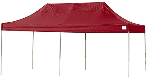 ShelterLogic 22537 10ft. x 20ft. Pro Pop-up Canopy Straight Leg Red Cover - Peazz.com