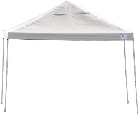 ShelterLogic 22538 12ft. x 12 ft. Pro Pop-up Canopy Straight Leg white Cover - Peazz.com