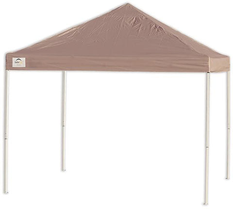 ShelterLogic 22542 12ft. x 12 ft. Pro Pop-up Canopy Straight Leg Desert Bronze Cover - Peazz.com
