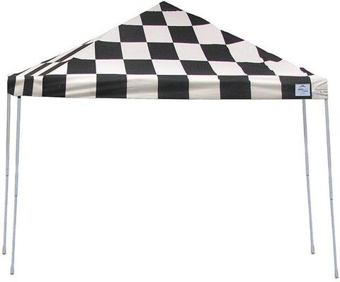 ShelterLogic 22543 12ft. x 12 ft. Pro Pop-up Canopy Straight Leg Checker Flag Cover - Peazz.com
