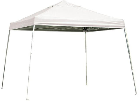 ShelterLogic 22544 12 ft. x 12 ft. Sport Pop-up Canopy Slant Leg White Cover - Peazz.com