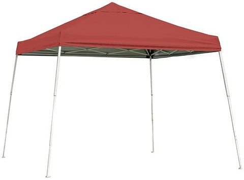ShelterLogic 22545 12 ft. x 12 ft. Sport Pop-up Canopy Slant Leg Red Cover - Peazz.com