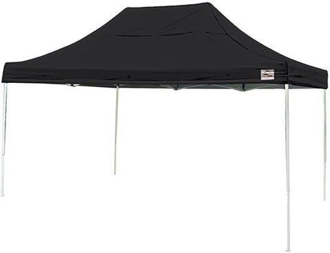 ShelterLogic 22553 10 ft. x 15 ft. Pro Pop-up Canopy Straight Leg Black Cover - Peazz.com