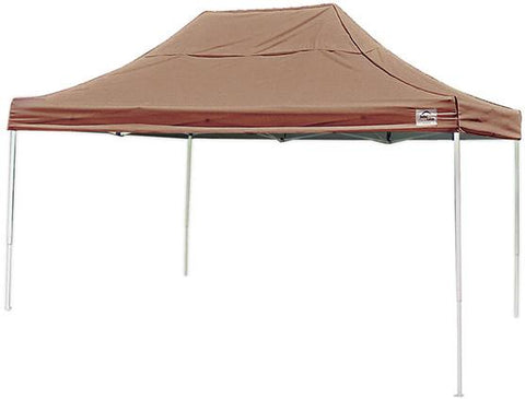ShelterLogic 22554 10 ft. x 15 ft. Pro Pop-up Canopy Straight Leg Deresrt Bronze Cover - Peazz.com