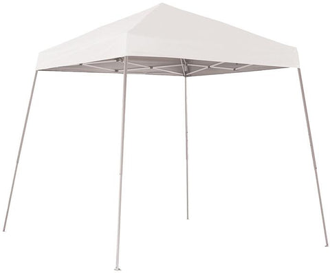 ShelterLogic 22571 8 ft. x 8 ft. Sport Pop-up Canopy Slant Leg White Cover - Peazz.com