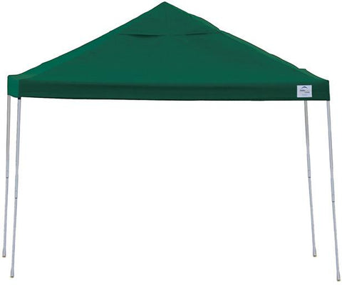 ShelterLogic 22587 12ft. x 12 ft. Pro Pop-up Canopy Straight Leg Green Cover - Peazz.com