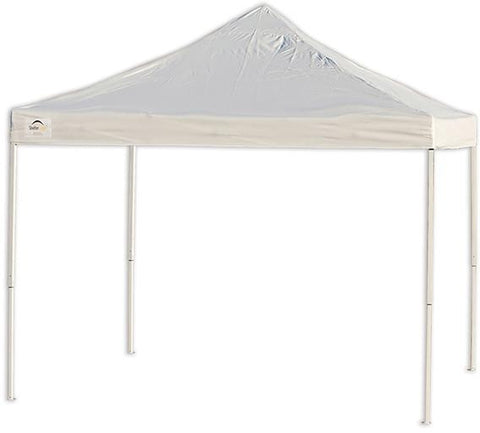 ShelterLogic 22596  10 ft. x 10 ft. Pro Truss Top Pop-up Canopy  Straight Leg White Cover - Peazz.com