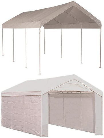 ShelterLogic 23529 Max AP 10 ft. x 20 ft. 2-in-1 Canopy with  White Cover Enclosure Kit - Peazz.com