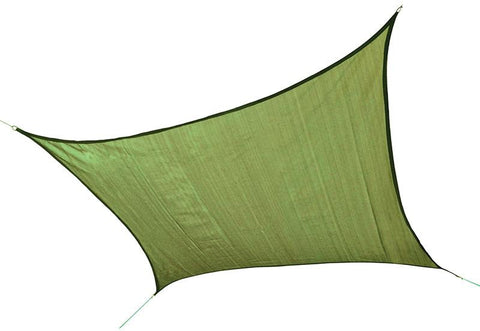 ShelterLogic 25677 ShadeLogic Sun Shade Sail Heavy Weight 16 ft. Square- Lime Green - Peazz.com