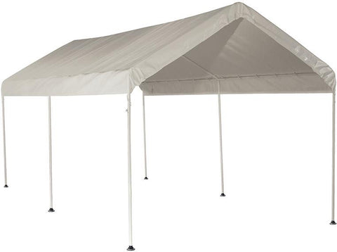 ShelterLogic 25757 10 ft. x 20 ft. Canopy 1-3/8 in. 3-Rib Frame White Cover - Peazz.com