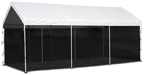 ShelterLogic 25777 Max AP 10 ft. x 20 ft. Screen House Enclosure Kit Woven Screen Black Fits 1-3/8 in. and 2 in. Frame - Peazz.com