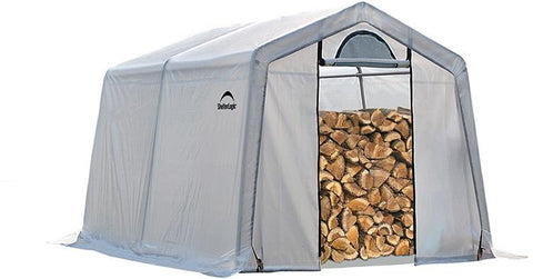 ShelterLogic 90396 Firewood Seasoning Shed 10 x 10 x 8 ft. - Peazz.com