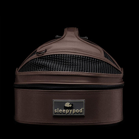 Sleepypod Mini SM-CHO Mobile Pet Bed (Dark Chocolate) Small - Peazz.com