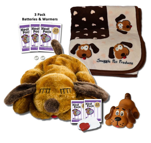 SnugglePuppie Brown Mutt Puppy Starter Kit - Peazz.com