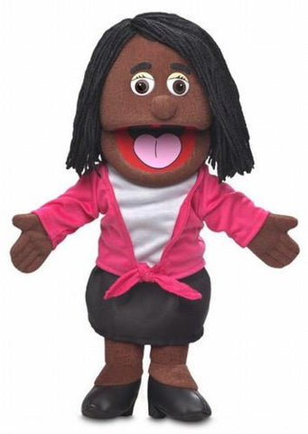 "14"" Barbara Puppet Black - Peazz.com"