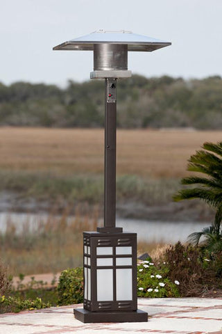 Well Traveled Living 60951 Square Mocha Illuminated Patio Heater - Peazz.com