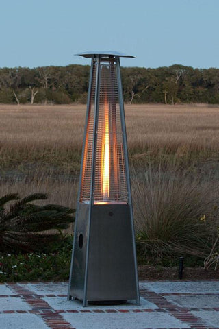 Well Traveled Living 60523 Stainless Steel Pyramid Flame Heater - Peazz.com