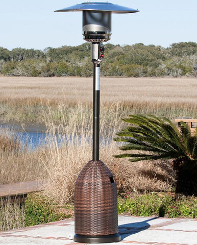 Well Traveled Living 60763 All Weather Wicker Patio Heater - Peazz.com