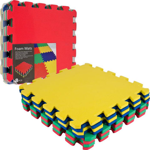 Trademark Commerce 80-32321 TGT Multi-Color EVA Foam Exercise Mat - 8 pc - Peazz.com