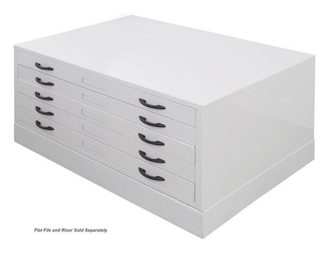Studio Designs 60724 Flat File / Light Grey - Peazz.com