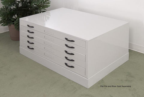 Studio Designs 60727 Flat File / Light Grey - Peazz.com