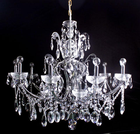 Tomia Crystal Chandeliers L 1070/15/013 chrome/ Bohemian Crystal Royal Family Collection Genova Traditional Crystal Chandelier - Peazz.com