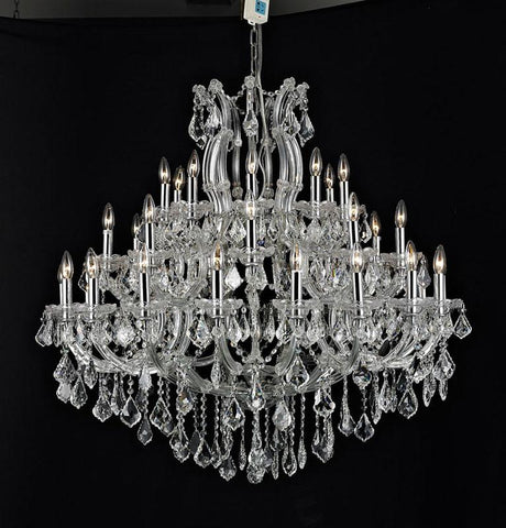 Tomia Crystal Chandeliers L 1305/37/012 chrome/ Bohemian Crystal Maria-Theresa Collection Jamie Traditional Crystal Chandelier - Peazz.com
