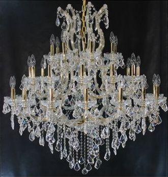 Tomia Crystal Chandeliers L 1305/37/012 gold/ Bohemian Crystal Maria-Theresa Collection Jamie Traditional Crystal Chandelier - Peazz.com