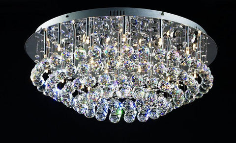 Tomia Crystal Chandeliers L 1545/25/009 chrome/ Bohemian Crystal Orea Contemporary Chandelier - Peazz.com
