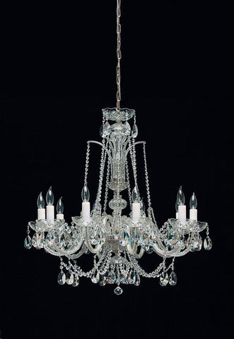 Tomia Crystal Chandeliers L 195/10/002 chrome/ Bohemian Crystal Royal Family Collection Monica Traditional Crystal Chandelier - Peazz.com