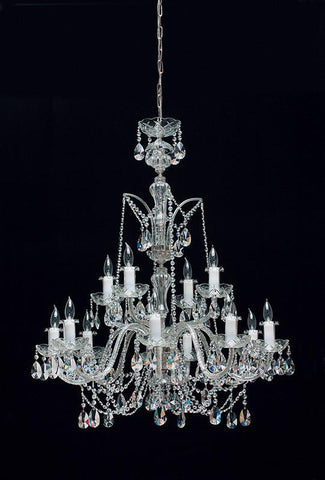 Tomia Crystal Chandeliers L 195/15/002 chrome/ Bohemian Crystal Royal Family Collection Verona Traditional Crystal Chandelier - Peazz.com