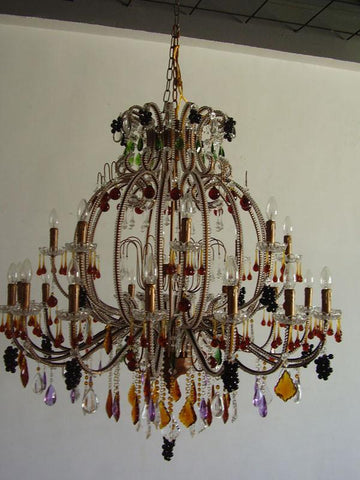 Tomia Crystal Chandeliers L 2670/24/700 Italian Style Collection Mia Italian Style Chandelier - Peazz.com
