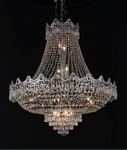 Tomia Crystal Chandeliers L 835/14/003 chrome/ Bohemian Crystal Royal Family Collection Jade Traditional Crystal Chandelier - Peazz.com