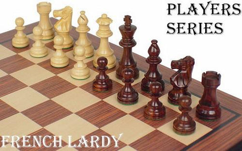 "French Lardy Staunton Chess Set in Rosewood & Boxwood - 3.75"" King - Peazz.com"