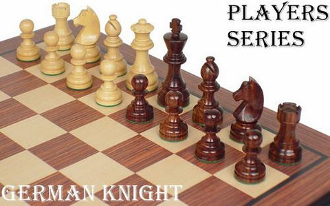 "German Staunton Chess Set in Rosewood & Boxwood - 3.75"" King - Peazz.com"