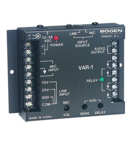 Bogen BG-VAR1 Voice Activated Relay - Peazz.com